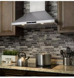 30 in. Convertible Kitchen Wall Mount Range Hood in Stainles