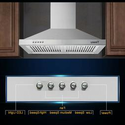 30 Inch Wall-Mounted Kitchen Range Hood 350CFM Stainless Ste