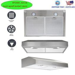 30 inch under cabinet range hood 350cfm