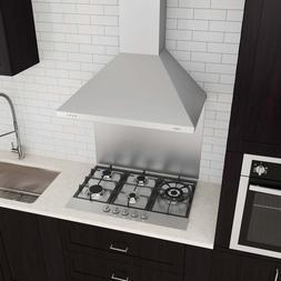 30 Inch Wall Mount Stainless Steel Kitchen Range Hood Stove