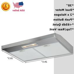30 Inch Kitchen Under Cabinet Stainless Steel Range Hood Top
