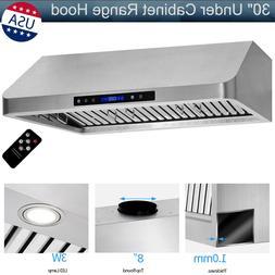 """30"""" Under Cabinet Range Hood 1000CFM Stainless Steel Kitchen"""