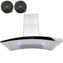 """AKDY 30"""" Wall Mount Stainless Steel Ductless/Ventless Range"""
