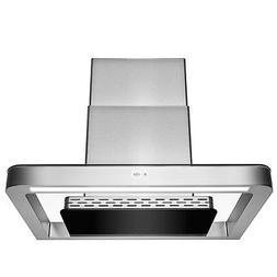 "30"" Wall Mount Stainless Steel Push Panel Kitchen Range Hood"