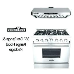 "36"" Thor Kitchen HRG3618U Professional Modern Gas Range Gas"