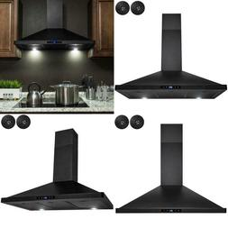 36 In. Convertible Kitchen Wall Mount Range Hood With Lights
