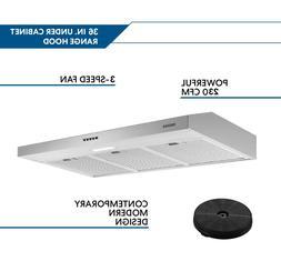 36 Inches Under Cabinet Range Hood Stainless Steel Kitchen C