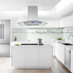 36 inch Island Mount Range Hood 900CFM Stainless Steel Touch