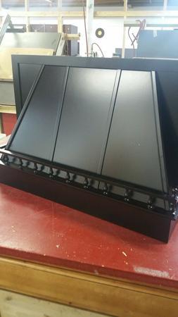 "36"" wood oven range hood satin black"