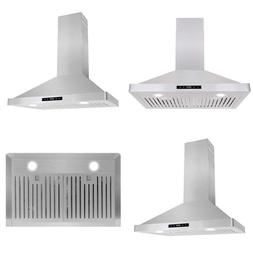 63175S 30-In Wall-Mount Range Hood 760-Cfm With Ducted / Duc