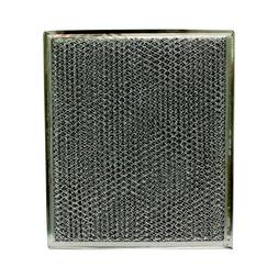 "Aluminum/Carbon Range Hood Filter - 9"" X 10-1/2"" X 1/8""-Sing"