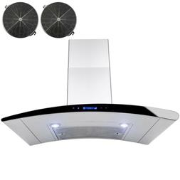 Carbon Filters Wall Mount Range Hood Convertible StainlessSt