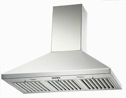 "KOBE CHX8136SQB-1 300 - 550 CFM 36""W Stainless Steel Wall Mo"