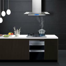 Island Mount Range Hood Stainless Steel & Tempered Glass Tou