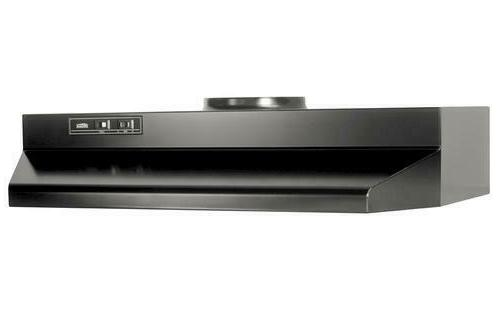 """Black Stove Range Hood Vented Ducted 30"""" Exhaust Fan Kitchen"""