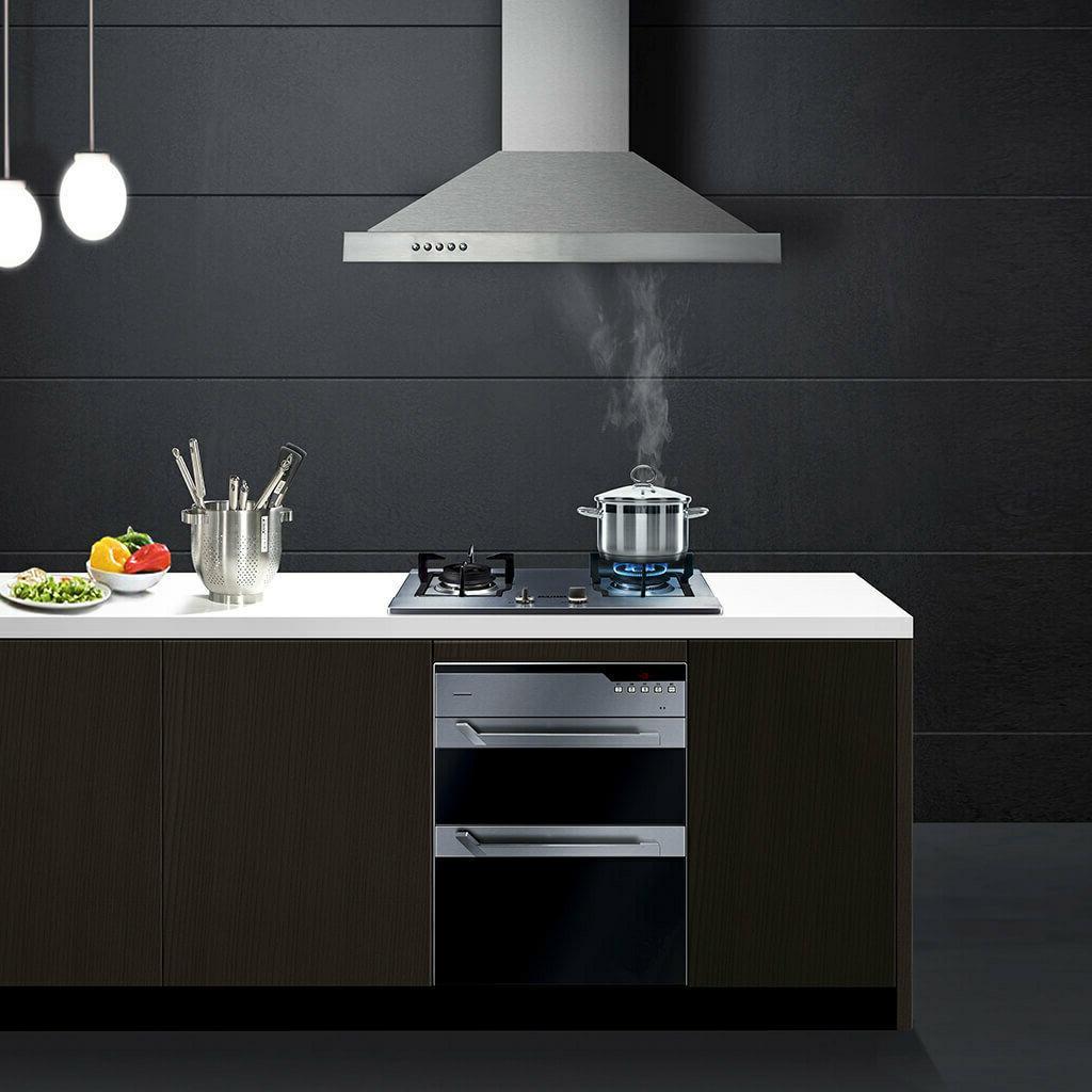 30 Range Stainless Steel Kitchen Over Vent 350 CFM