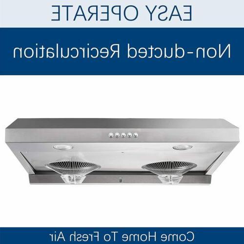 Simple 30 Under-Cabinet Kitchen Range Modern Dual Motor