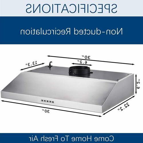 Simple 30 Inch Under-Cabinet Kitchen Hood Modern