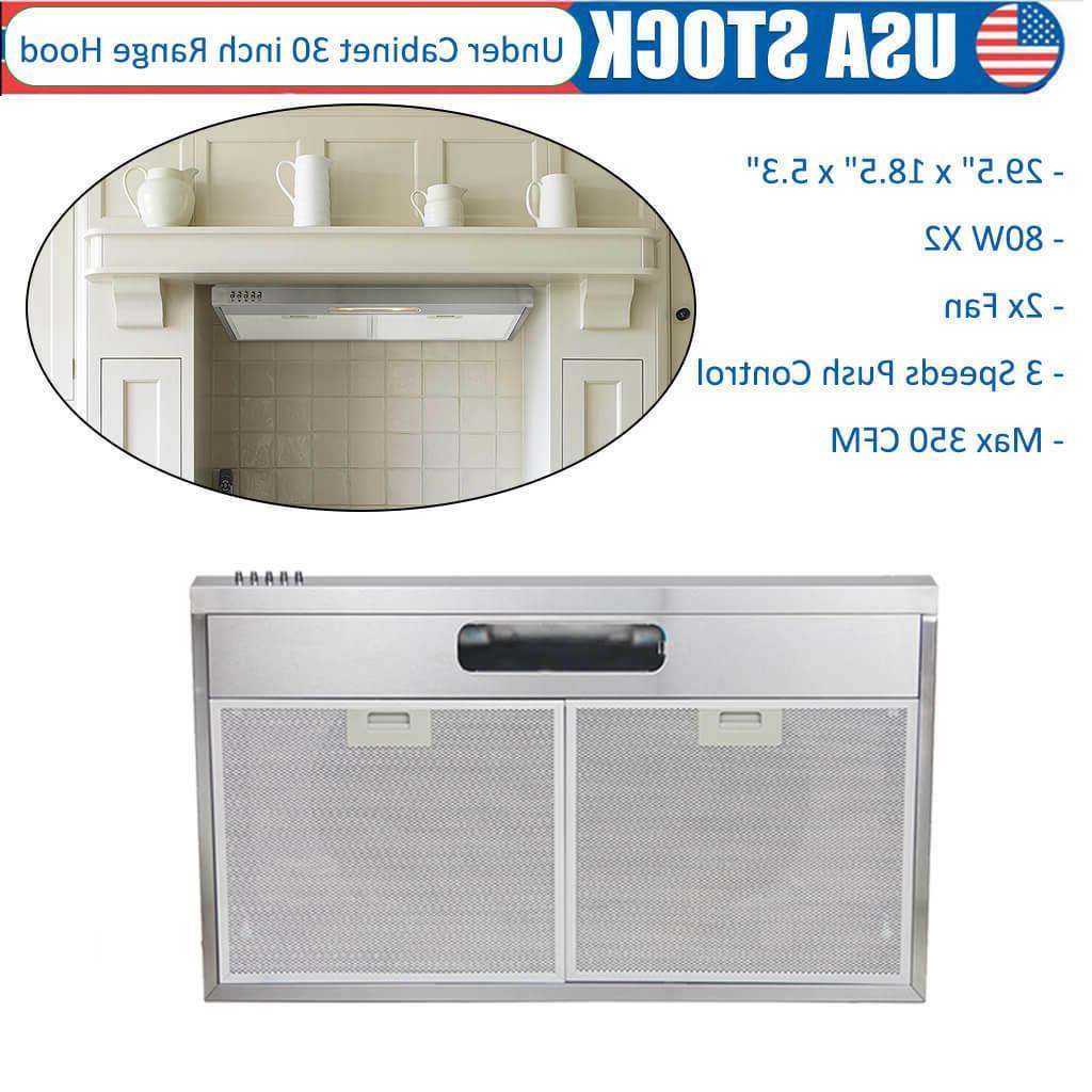 30 inch under cabinet range hood slim