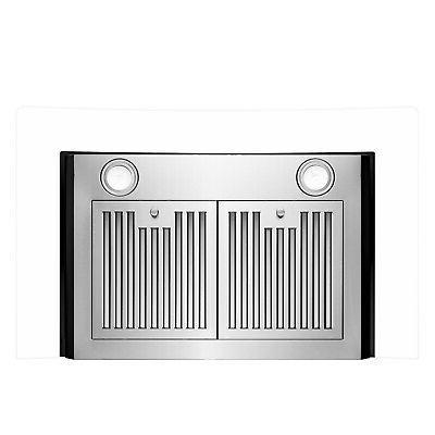 "30"" Stainless Steel Glass 3 Speed Panel Wall Range Hood"