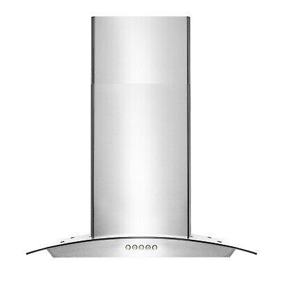 """30"""" Stainless Glass Panel Control Range"""