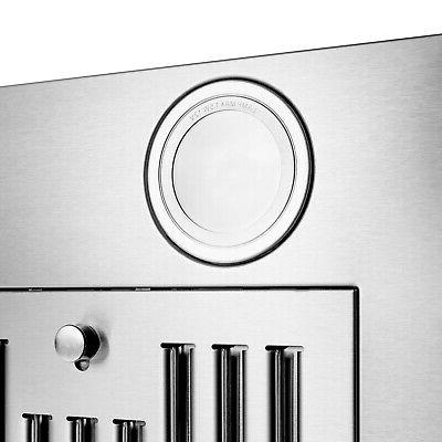 "30"" Steel Glass Push Panel Wall Range"
