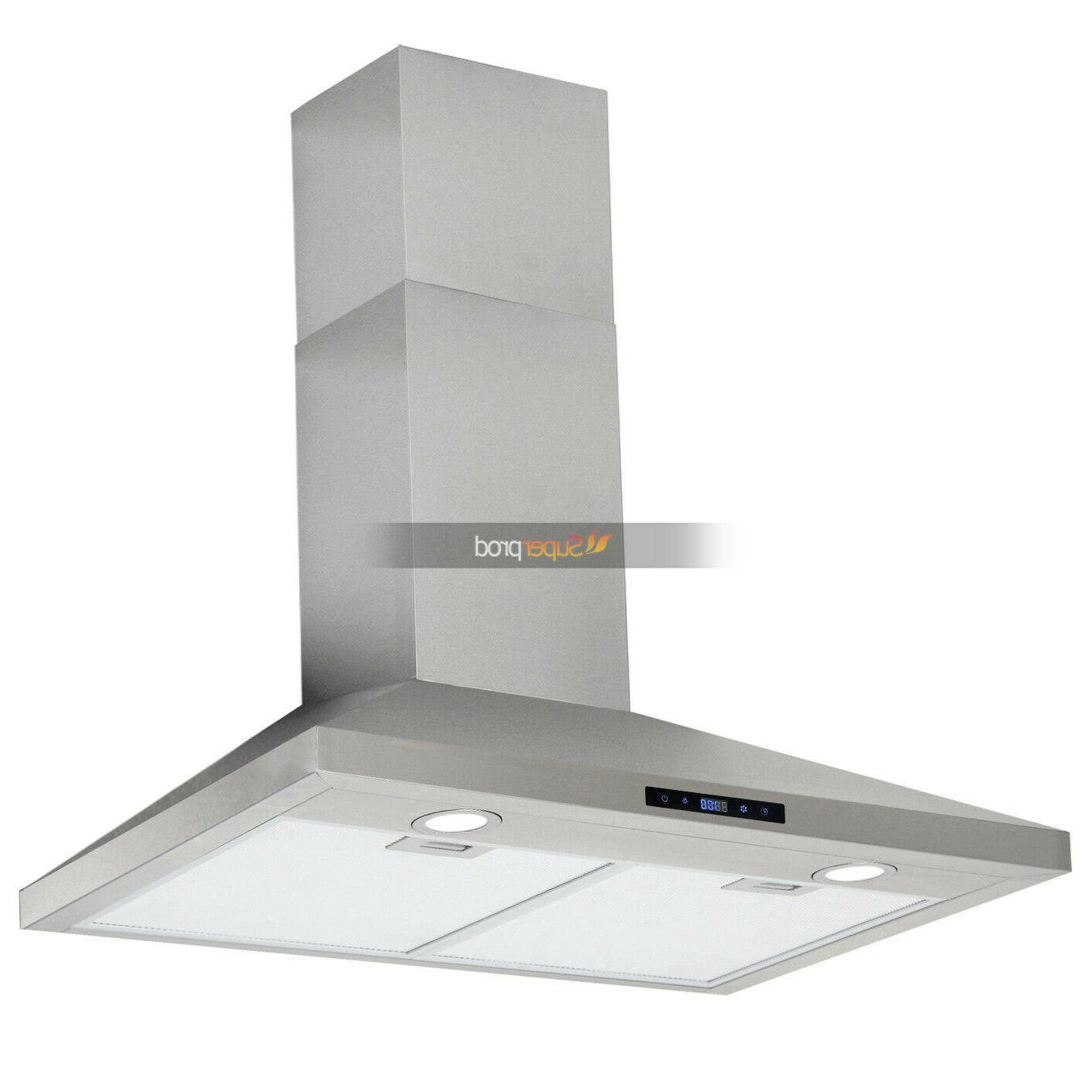 30 Kitchen Range Hood Touch Control Steel