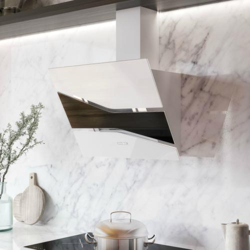 30 vallo stainless steel range hood white