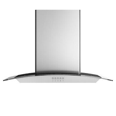 30'' Wall Range Stainless Steel Tempered Glass Lights
