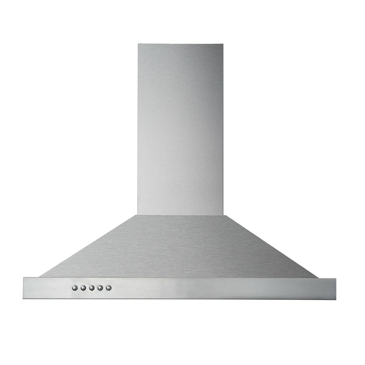 """30"""" Wall Hood Steel Kitchen Over w/ LEDs"""
