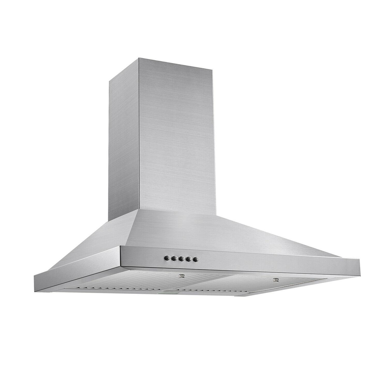 "30"" Mount Range Hood Stainless Kitchen w/ LEDs"