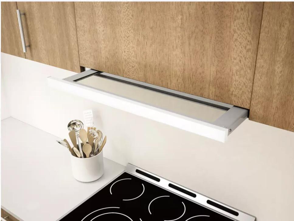Zephyr White Cabinet Range Hood 3-Speed/500