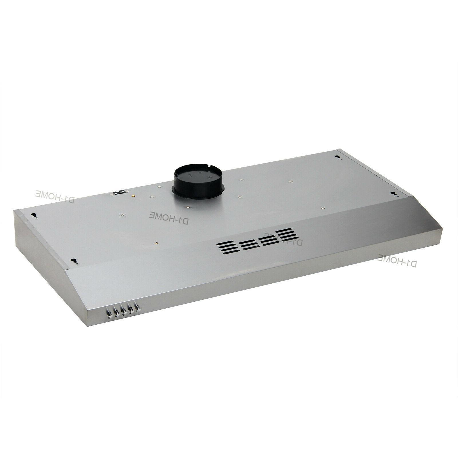 36'' Dual Fan Kitchen Steel