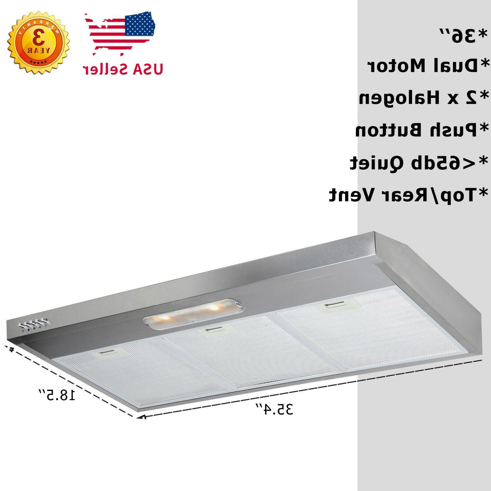 36 under cabinet dual fan kitchen stove