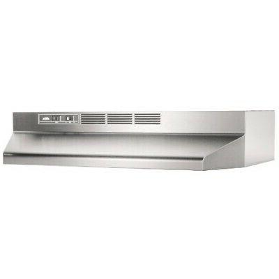 412404 stainless steel non ducted range hood
