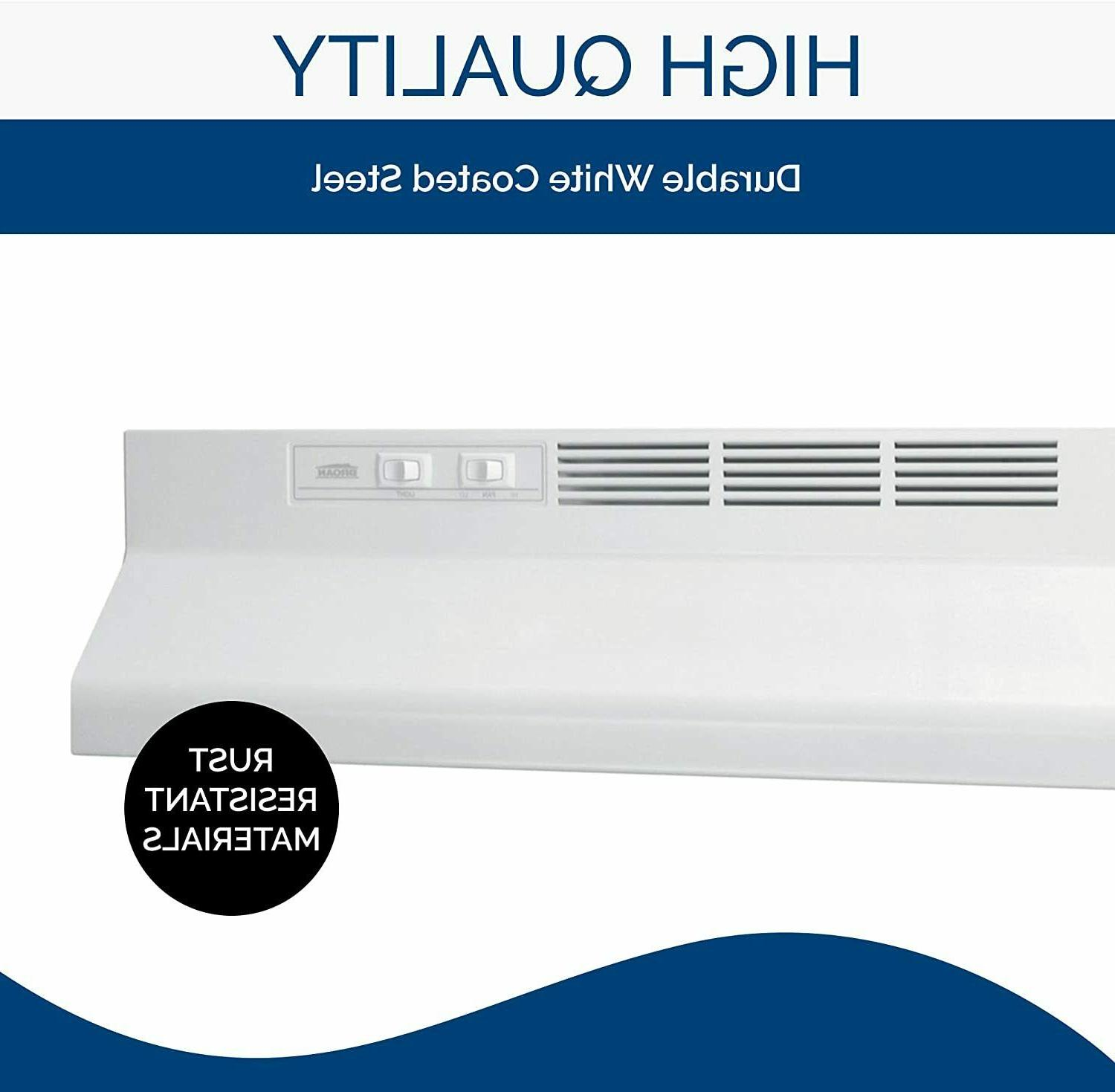 Broan-NuTone 413001 Non-Ducted Ductless Range Hood - White