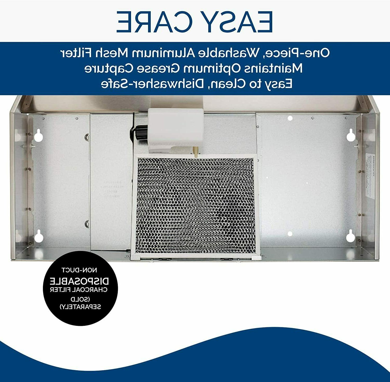 Broan-NuTone 413001 Ductless Range Hood - White