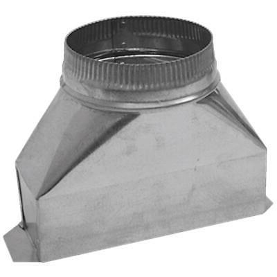 7 in galvanized range hood round transition