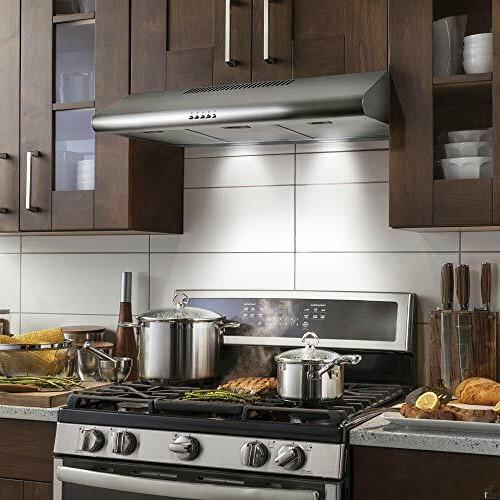 Cosmo 5MU36 36-in Under-Cabinet Range-Hood 200-CFM | Ducted