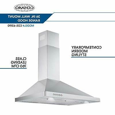 Cosmo Wall-Mount Range Hood Convertible Duct,