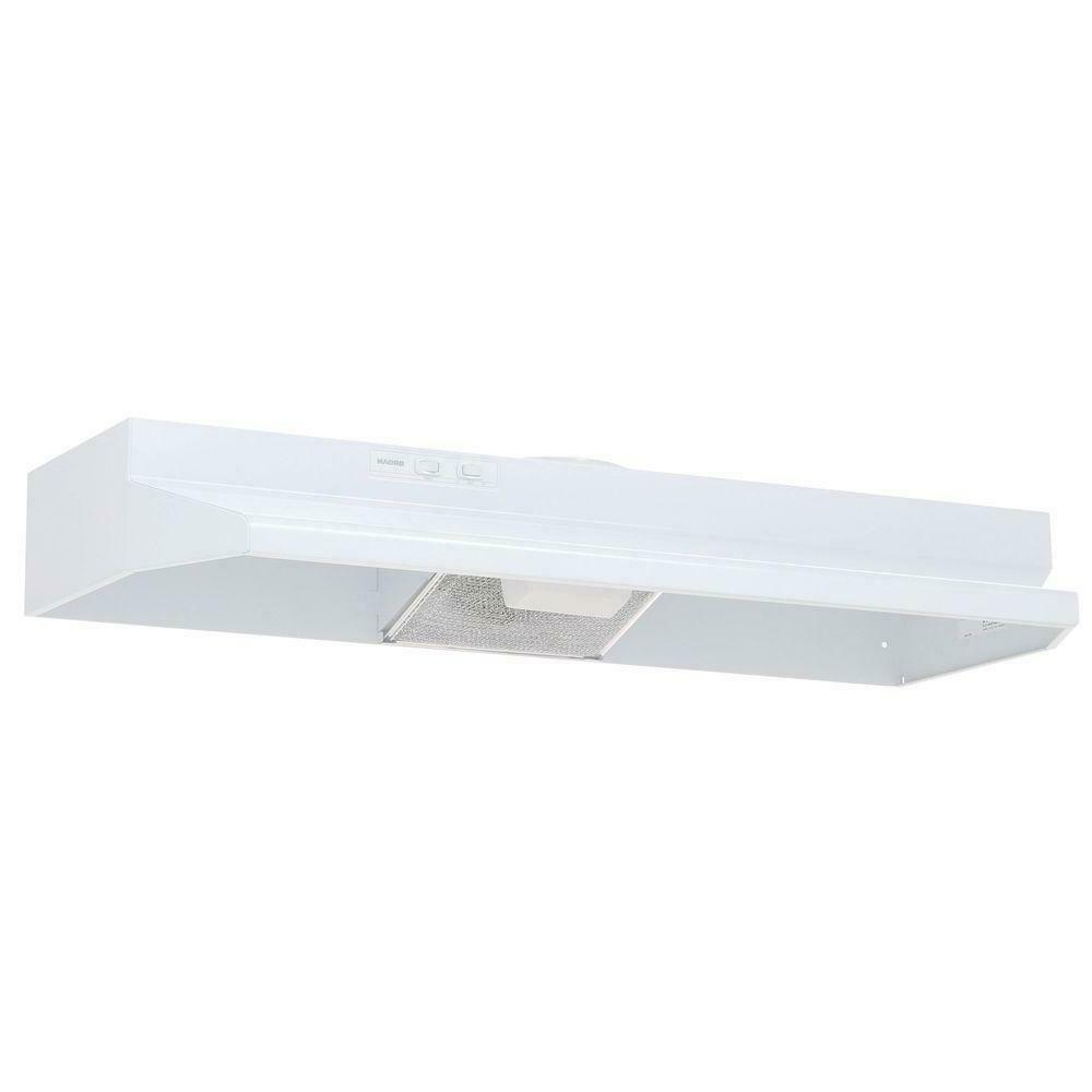 ductless under cabinet range hood light white