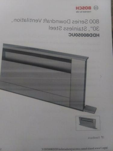 hdd80050uc 800 series 30 downdraft ventilation hood