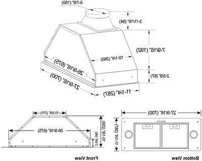 KOBE Brillia Built-in/ Insert Range 3-Speed, 550