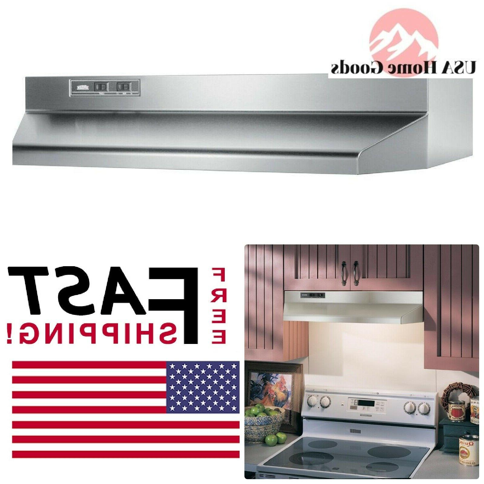 light stainless steel 30 under cabinet range