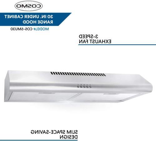 Range Hood Under Fan Cfm Kitchen Light Inch