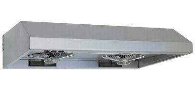 "Windster WS-5536 530 CFM 36""W Stainless Steel Under Cabinet"