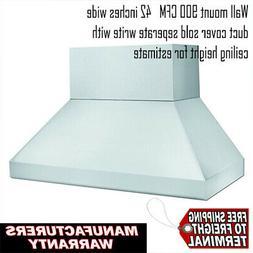 Vent A Hood NEPTH18342-SS Stainless Ventilation Hood 900CFM