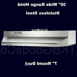 """Over The Stove Range Hood Ducted Stainless Steel 30"""" under K"""