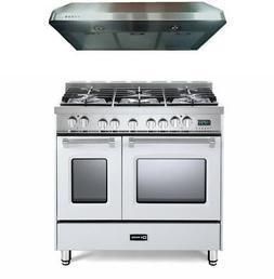 """Verona Prestige VPFSGE365DW 36"""" DualFuel Range Double Oven C"""