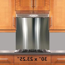 Range Hood Stove Backsplash 30x23.25in Stainless Steel Wall